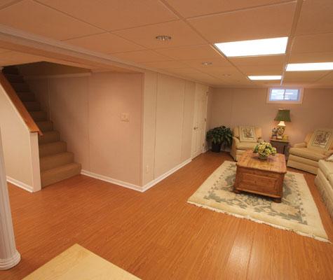 Beautiful wood laminate basement flooring millcreek for Hardwood floors york pa