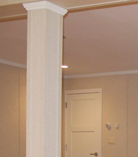 Easy Wrap column sleeves in Canandaigua basement