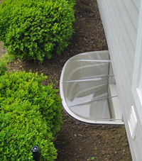 basement egress window well in Corning