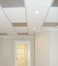 Basement Ceiling Tiles for a project we worked on in Corning, New York