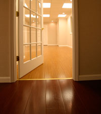Basement Wood Flooring installed in Geneva, New York