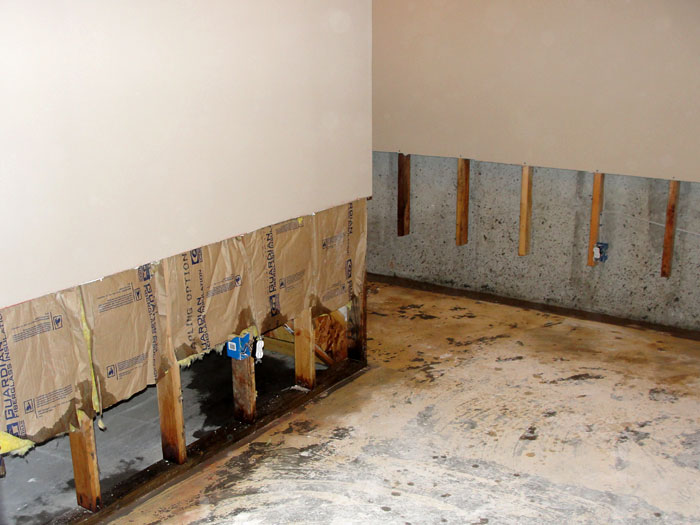... Once the drywall has been cut away and all other damaged wood studs and insulation have ... & Basement Drywall Repair Rochester Penfield Henrietta New York ...