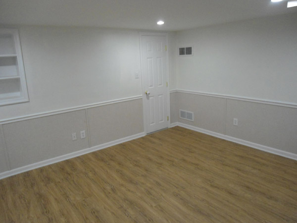 Our complete EverLast™ Finished Wall Restoration System installed in a basement complete with floor ... & Basement Drywall Repair Rochester Penfield Henrietta New York ...