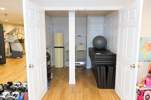 TBF finished basement with home gym in Rochester